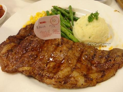wagyu steak , medium rare
