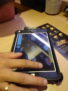 tablet di genki sushi