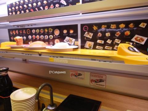 kereta cepat di genki sushi