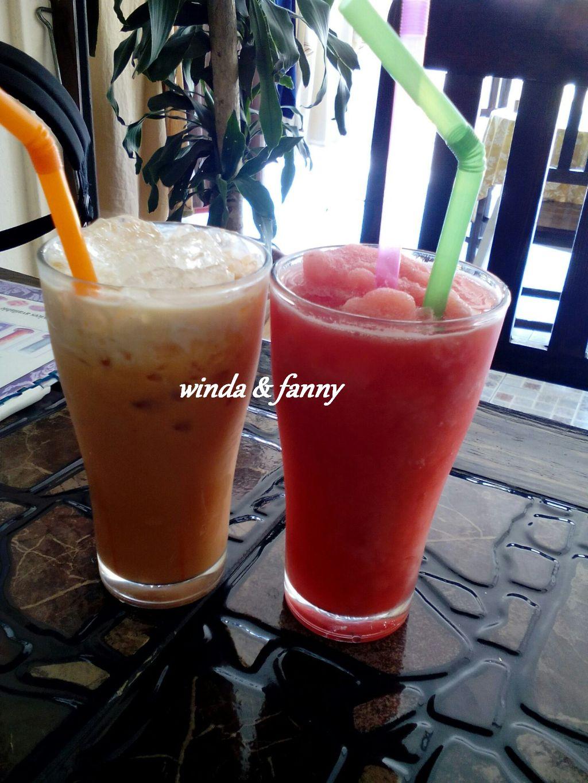 jus semangka & milk tea