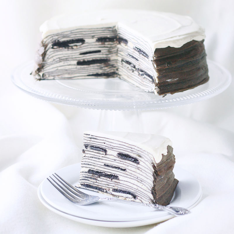oreo cheese mille crapes