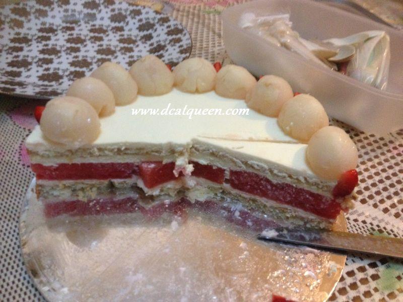 lychee watermelon cake
