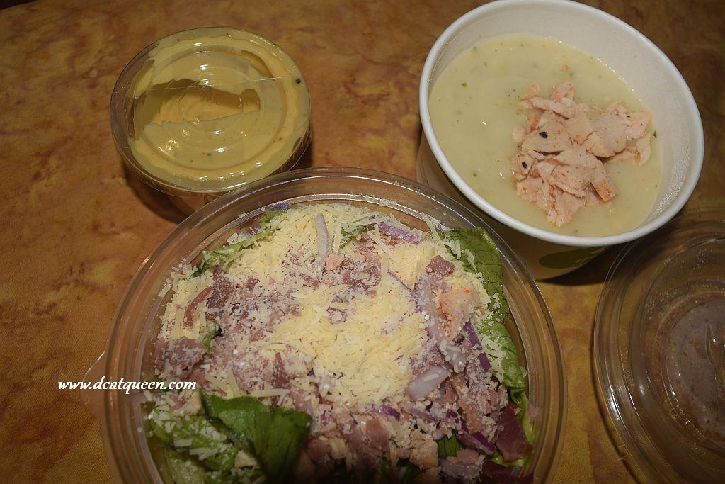 quiznos sub honey mustard salad