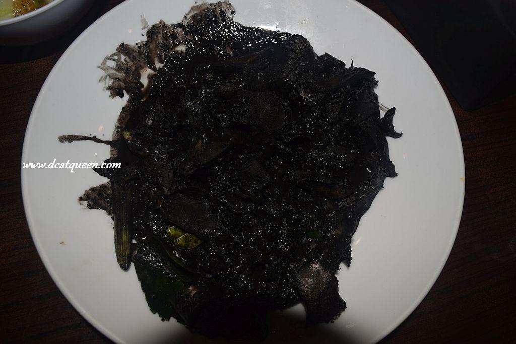 rm makasar seafood, cumi masak tinta