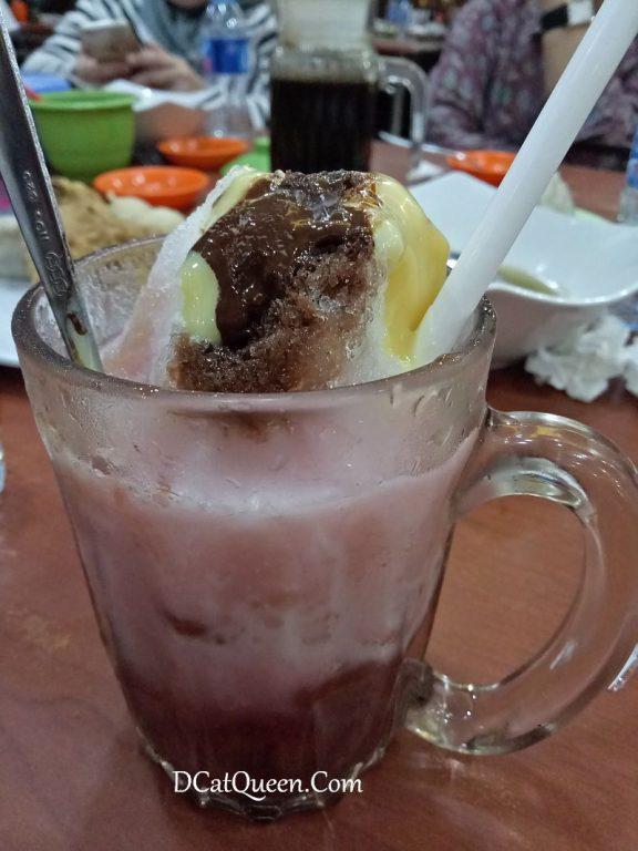 es kacang merah paling enak di palembang, pempek vico