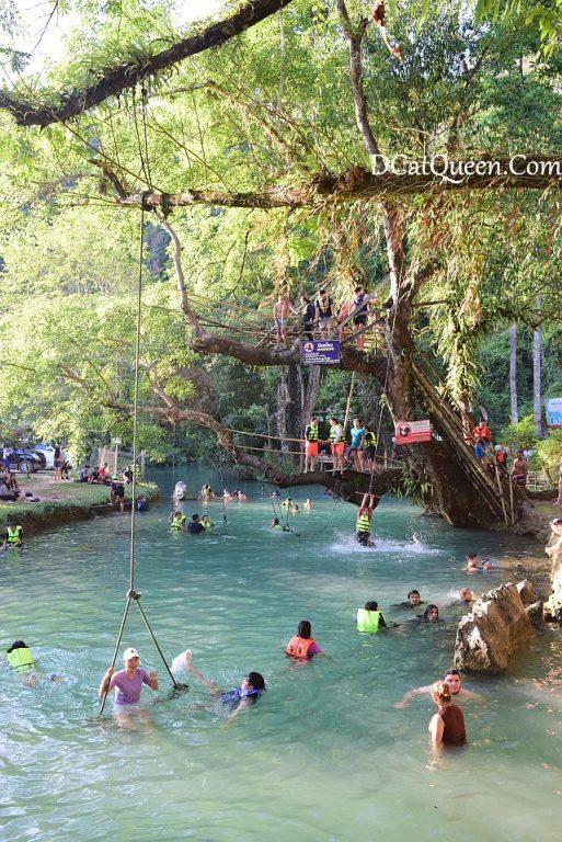 wisata vang vieng, wisata alam, kayaking, tur full day vang vieng