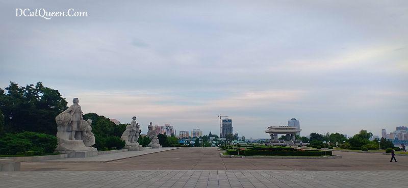 korea utara, kim il sung statue, wisata korea utara