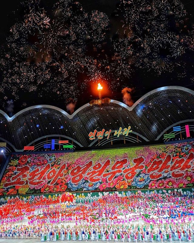 mass games korea utara, acara olahraga koreautara, pertunjukan megah mass games korea utara, event di korea utara wajib tonton, wisata korea utara, tiket masuk mass games korea utara, waktu diadakan mass games di korea utara, lokasi mass games