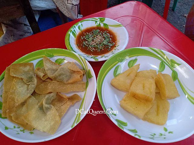 fried tofu dumpling ayam myanmar